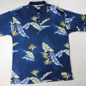 Tommy Bahama Tropical Blue Polo Shirt X Large